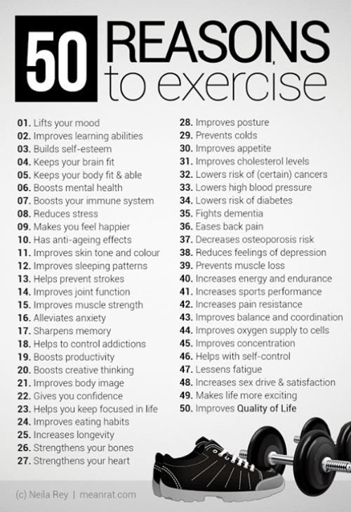 50 reasons to #exercise! | Healthy Lifestyle | Pinterest