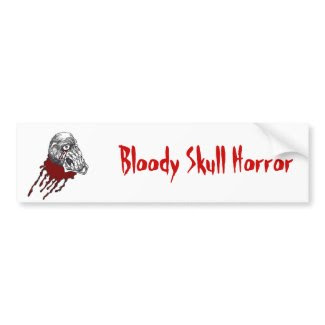 Blood Horror Skull bumpersticker