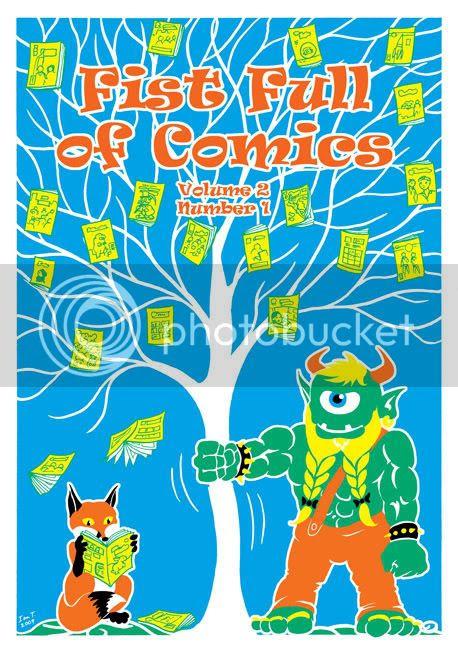 Fist Full of Comics back cover by Ian T.