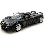 Pagani Zonda C12, Black - Motormax 73272 -1/24 scale Diecast Model Toy Car