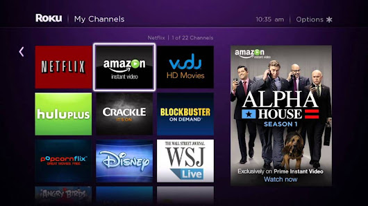 How do I activate Amazon Instant Video on Roku player?