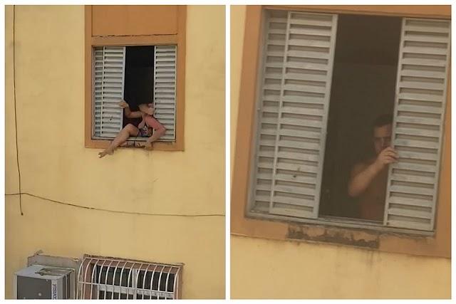 RJ: Mulher grávida tenta pular pela janela para fugir das agressões do marido
