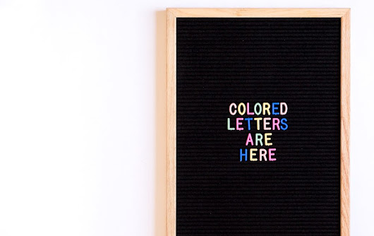 NEW!! Colored Letter Board Letters + Letter Boards are Back!