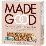 Made Good Granola Bars, Chocolate Chip - 6 count, 5.10 oz box
