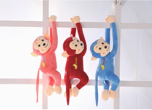 Plush toy monkey doll cute doll super soft crystal long arm of the monkey hanging pillow birthday girl