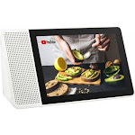 "Lenovo 8"" Smart Display White & Gray - Includes Google Assistant - Voice activated touchscreen - See & hear what you want - Monitor your home remote"