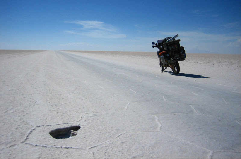 sanDRina on vast salt lake in Boivia - The Salar de Uyuni