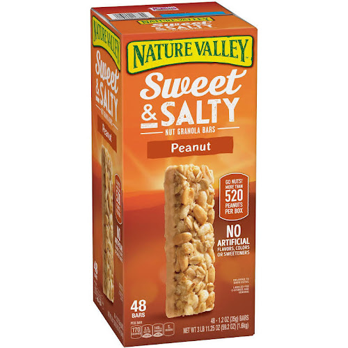 Nature Valley Sweet & Salty Nut Granola Bars, Peanut - 48 count, 1.2 oz bars