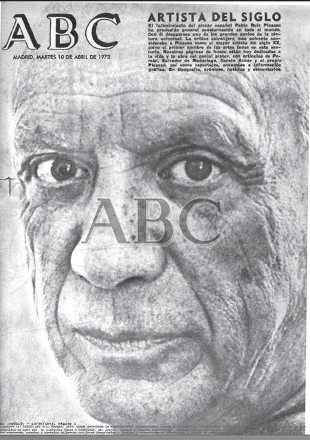 ABC Fallecimiento de Picasso