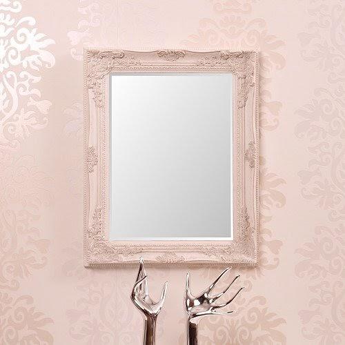 Xtradefactory miroir avec cadre baroque en bois blanc - Ecrire en miroir ...
