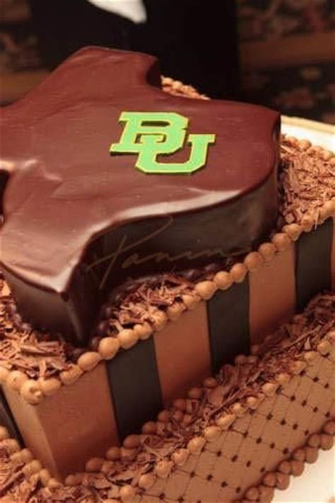 Groom's cake idea: Baylor BU on Texas shaped chocolate
