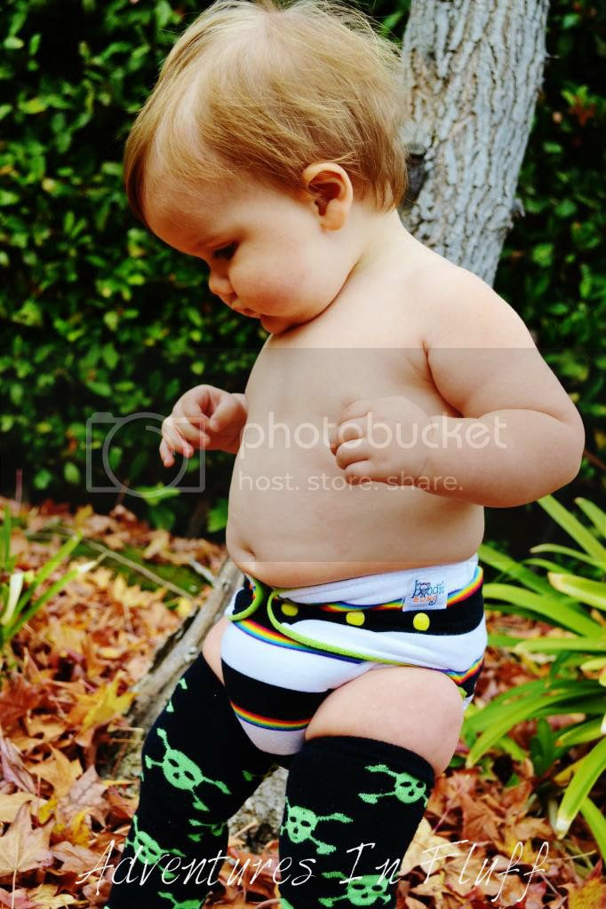 boogie BUMS One-Size Hybrid Fitted Cloth Diaper - On my baby