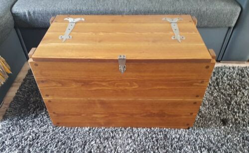 Rustic Wooden Chest Trunk Blanket Box Vintage Coffee Table 12 Colours
