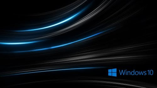 Windows 10 Wallpaper HD 3D for Desktop with Abstract Black