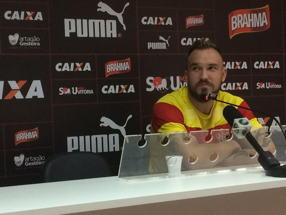 Willian Farias avalia empate diante do Avaí na estreia da Série A (Foto: Thiago Pereira)
