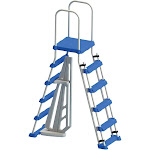"Swimline Above Ground Pool A Frame Ladder with Barrier for 48"" Pools"