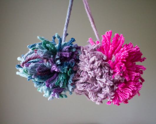 25 DIY Pom Pom Crafts - Crafting a Green World