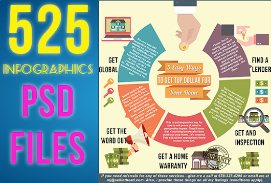 I will send you 525 INFOGRAPHICS in editable psd and jpeg