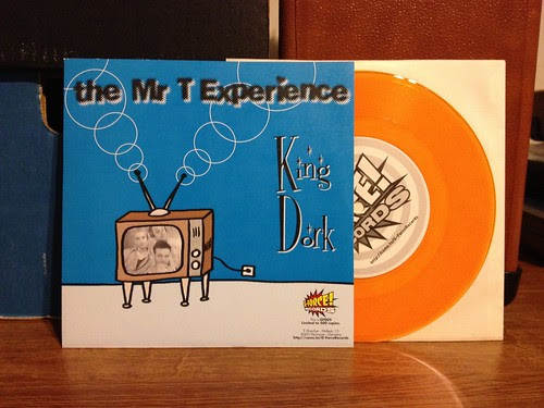 "Mr. T Experience / Gigantor - Split 7"" - Clear Orange Vinyl by Tim PopKid"