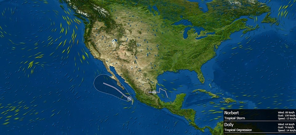 GeoGarage Blog: Live Interactive 3D Map Lets You Watch Rain, Clouds And Even Hurricanes Across