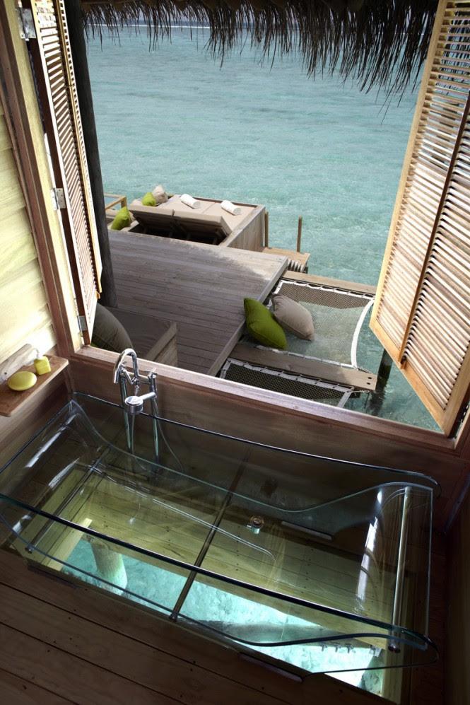 maldives interior transparent bath