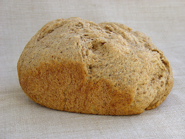 Pan integral con avena en panificadora