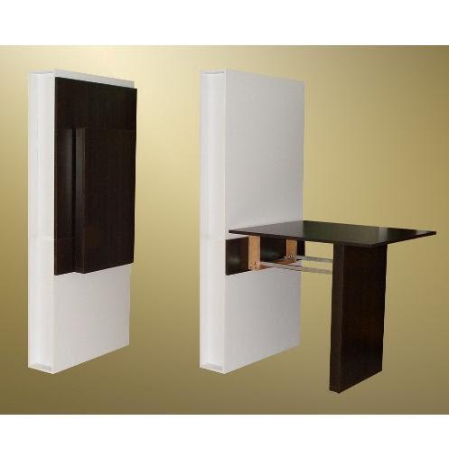 C mo decorar la casa mesas de cocina de pared - Mesas plegables de pared ...