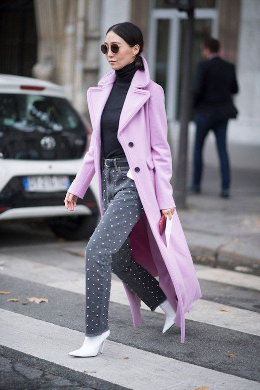 Le  Fashion  Blog  Winter  Pastels  Black  Turtleneck  Studded  Jeans  White  Heeled  Boots  Via  Stylecaster