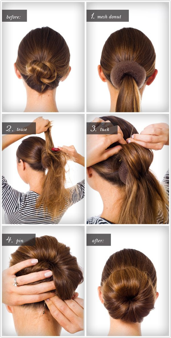 Big Bun hair tutorial. Great hair style, I sometimes struggle with sock buns and so using this might give a bigger/messy bun!