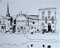 ink drawing of Wexford