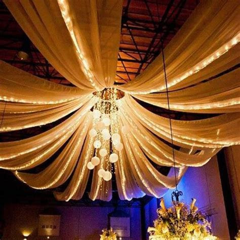 "4 Panel 20"" Hoop Ceiling Draping Hardware Kit For Wedding"