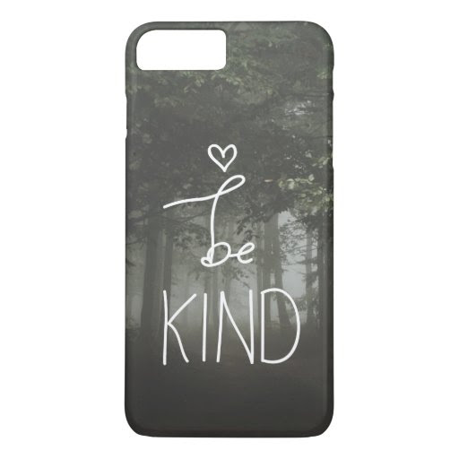 White Be Kind Quote Cute Heart Typography Girly iPhone 7