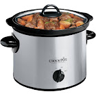 Crock-Pot SCR300-SS Slow Cooker - 3 qt - Stainless Steel