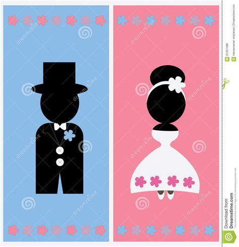 Cute Wedding Card Design Vector Template Stock Vector