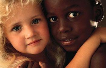 Casal branca e preto