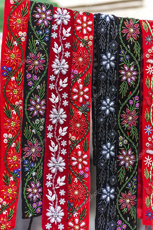 Romanian traditional folk embroidery