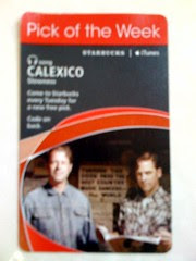 Starbucks iTunes Pick of the Week - Calexico - Slowness