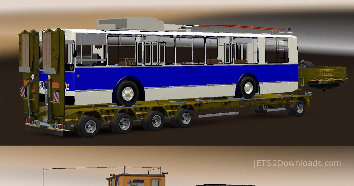 Eaa bus pack v1 6 mod euro truck simulator 2 mods - Pack Trailers Heavy Cargo For The Map Russian Open Spaces