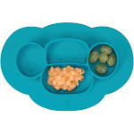 Interdesign Blue Silicone Kids Divided Plate