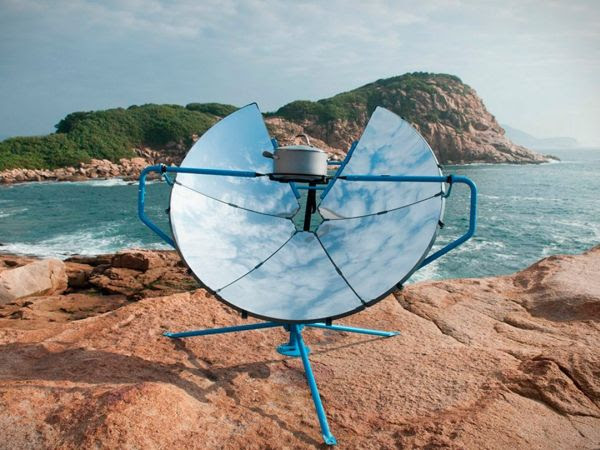 Solar-powered barbecue