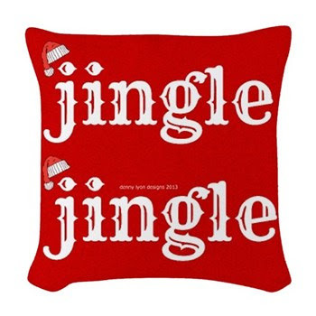 Santa Jingle Woven Throw Pillow