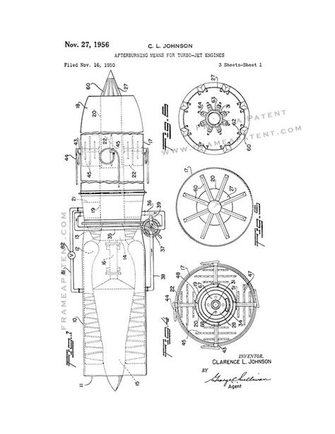 Afterburning Means For Turbo-jet Engines Patent Print