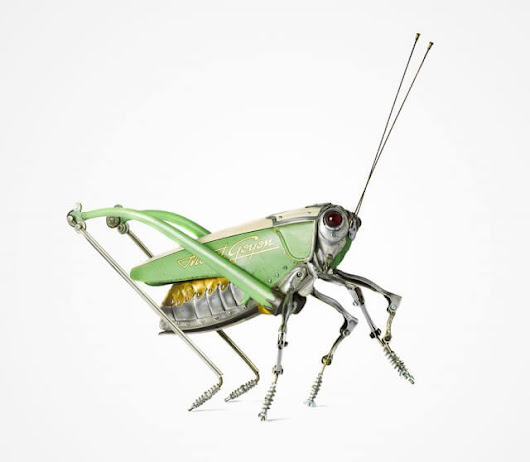 12 Impressively Detailed Scrap Metal Steampunk Insects