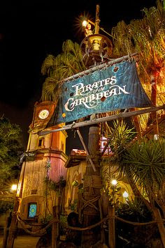 "Pirates of the Caribbean - attraction at Disney World....""Yo Ho Yo Ho A Pirate's Life for Me"""