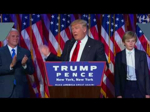 Donald Trump Victory Speech After Announced Winner of USA Presidential Election 2016