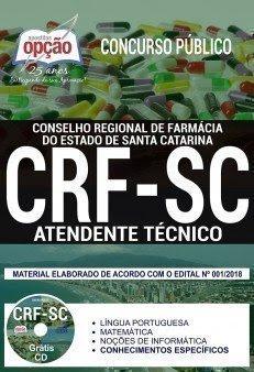 Apostila Concurso CRF SC 2018 | ATENDENTE TÉCNICO