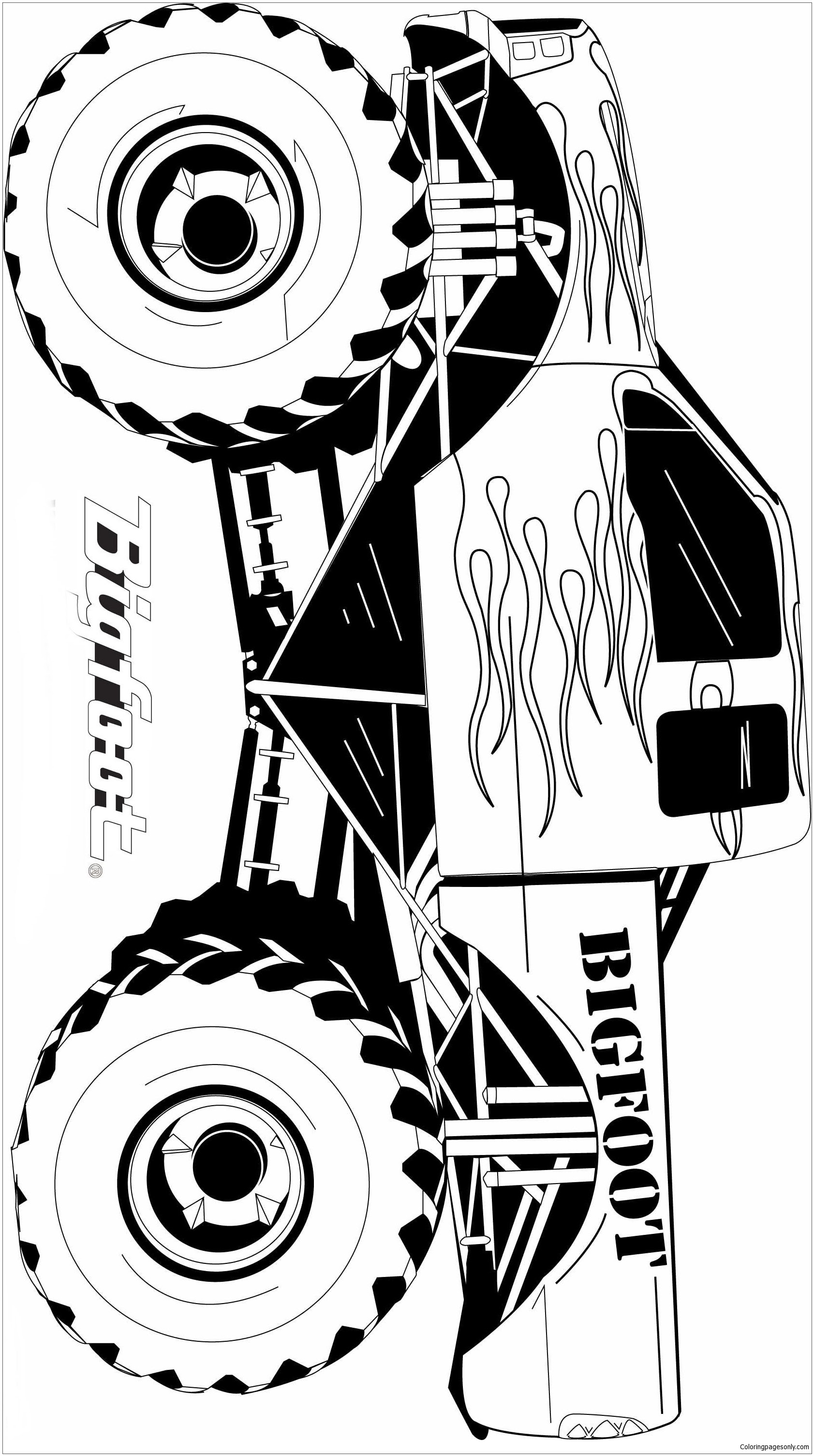 Batman Monster Truck Coloring Pages | Top Free Printable ...
