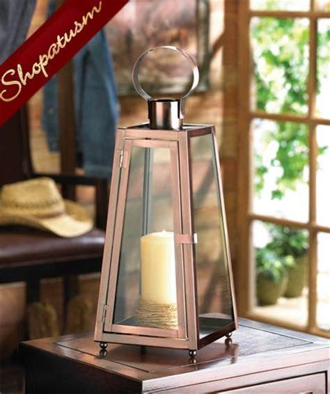 candle lanterns copper contempo wedding centerpieces