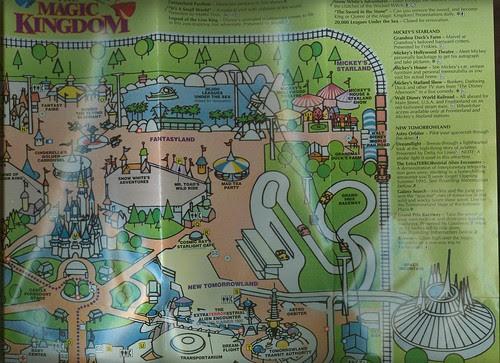 magic kingdom map 2009. 1994 WDW Magic Kingdom Map