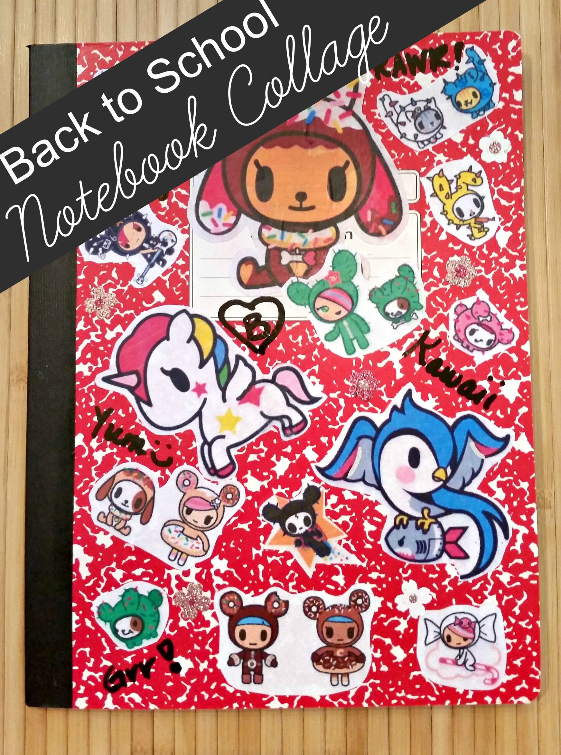 Back To School Notebook Collage